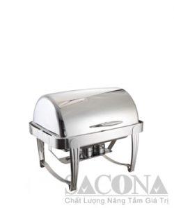 Full Size Roll Top Chafing Dish/ Nồi Hâm Thức Ăn Sacona Hình Chữ Nhật