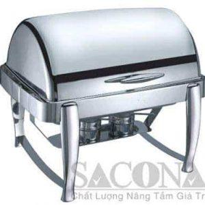 Full Size Roll Top Chafing Dish/ Nồi Hâm Thức Ăn Sacona Hình Chữ Nhật - Thiết bị dụng cụ tiệc buffet