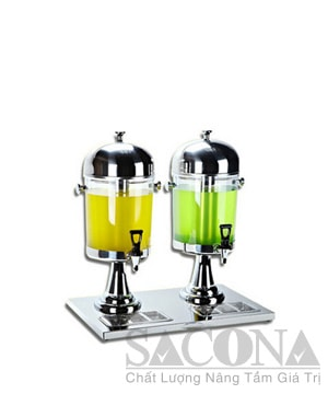Double Heads Juice Dispenser/ Bình Đựng Nước Trái Cây Sacona 2 Ngăn