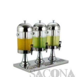 Triple Heads Juice Dispenser/ Bình Đựng Nước Trái Cây Sacona 3 Ngăn