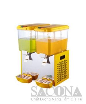 Double Heads Cooling Juice Dispenser/ Máy Làm Lạnh Nước Trái Cây Sacona 2 Ngăn
