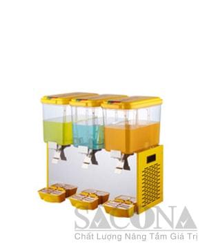 Three Heads Cooling Juice Dispenser/ Máy Làm Lạnh Nước Trái Cây Sacona 3 Ngăn