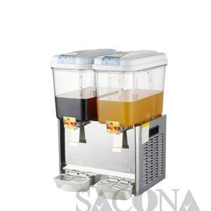 Stainless Steel Electric Cooling Juice Dispenser/ Máy Làm Lạnh Nước Trái Cây Sacona 2 Ngăn