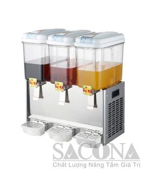 Stainless Steel Electric Cooling Juice Dispenser/máy Làm Lạnh Nước Trái Cây Sacona 3 Ngăn
