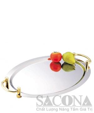 Khay Inox Oval Để Trái Cây
