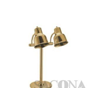 Đèn Hâm Nóng Thức Ăn 2 Bóng ( Inox Mạ Vàng )