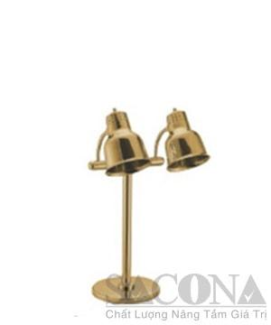 Đèn Hâm Nóng Thức Ăn 2 Bóng ( Inox Mạ Vàng)