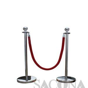 Railing Stand/ Cột Chắn Inox Trắng