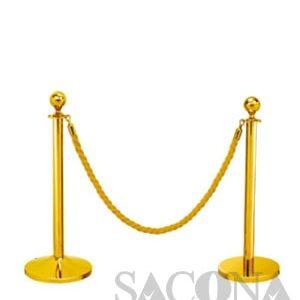 Railing Stand/ Cột Chắn Inox Vàng