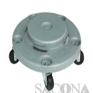 Round Dolly Rolling Wheel Trash Cans Garbage Container Parts/ Chân Đế Bánh Xe