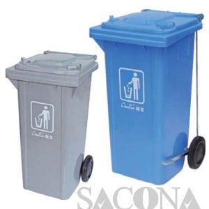 Foort-Pedal Slide-Wheel Garbage Bin/ Thùng Rác Công Nghiệp Chân Đạp
