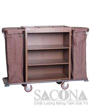 Xe Phục Vụ Phòng 2 Túi / Guest Room Service Cart