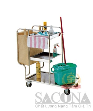 Xe Dọn Phòng 3 Tầng / Multipurpose Cleaning Cart