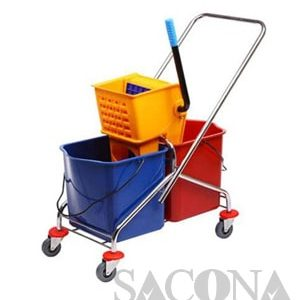 Xe Vắt Nước Đôi / Side-Press Double Mop Wringer Trolley