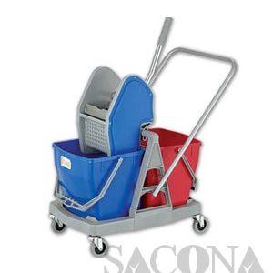 Xe Vắt Nước Đôi / Down-Press Double Mop Wringer Trolley